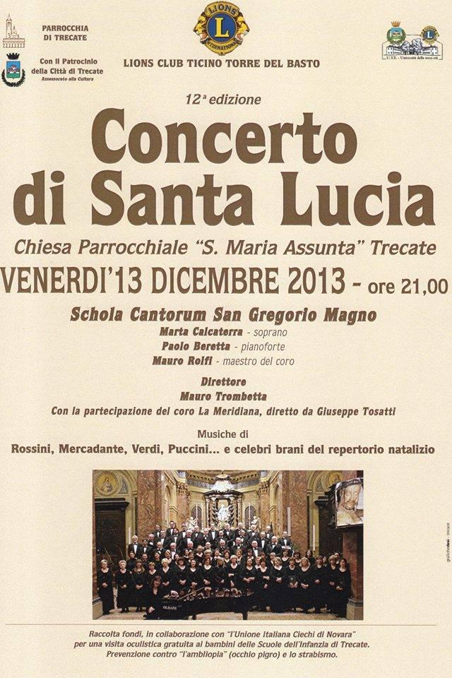 CONCERTO S.LUCIA 13 DICEMBRE 2013